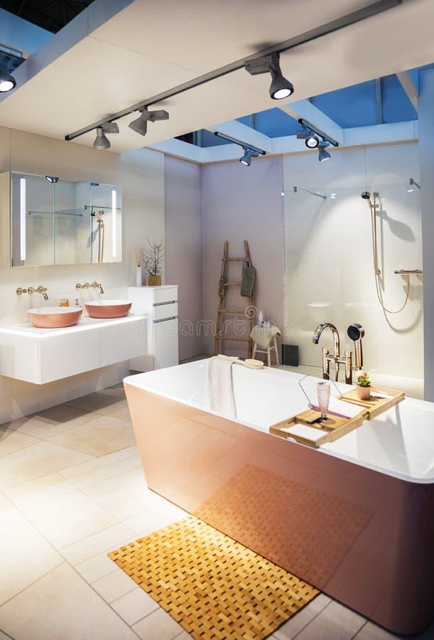 Interior moderno del sitio del baño fotos de archivo
