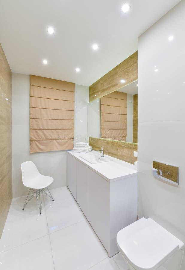 Interior moderno do apartamento do banheiro imagem de stock