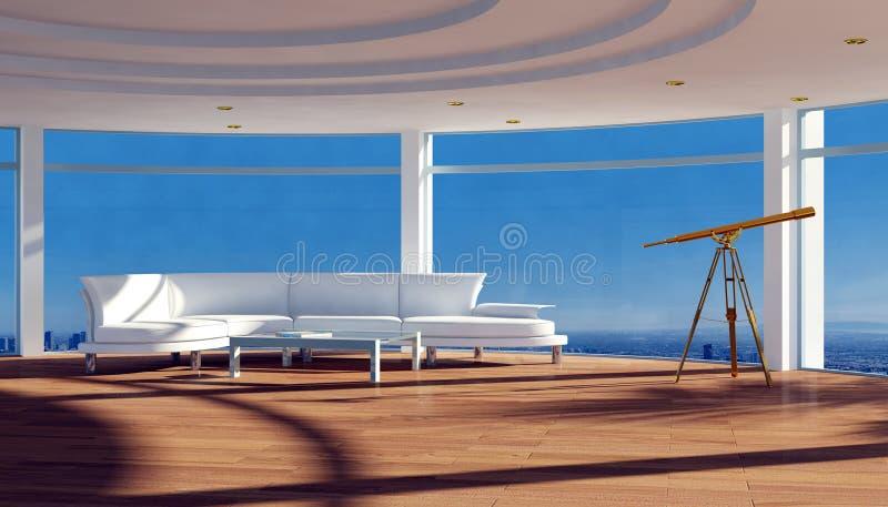 Interior moderno do apartamento com vista bonita