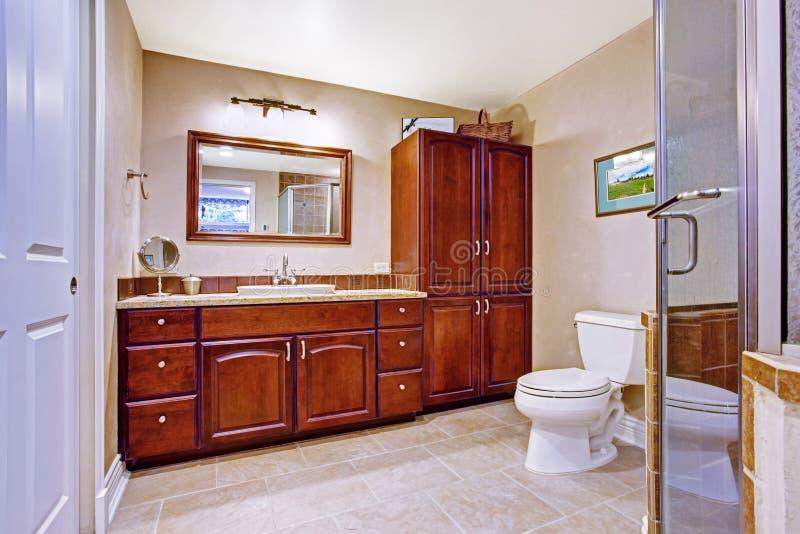 Interior moderno do banheiro imagem de stock royalty free