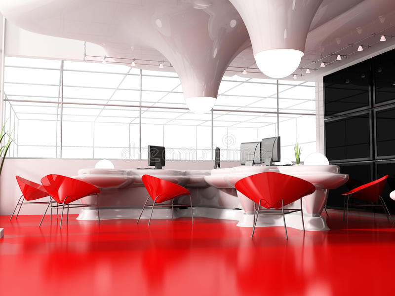 Interior moderno do escritório ilustração do vetor