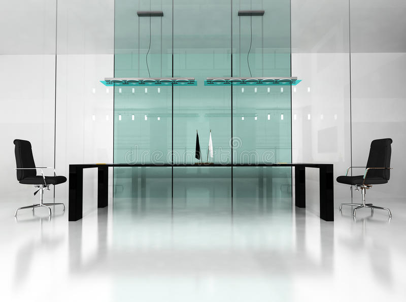 Interior moderno do escritório imagem de stock royalty free