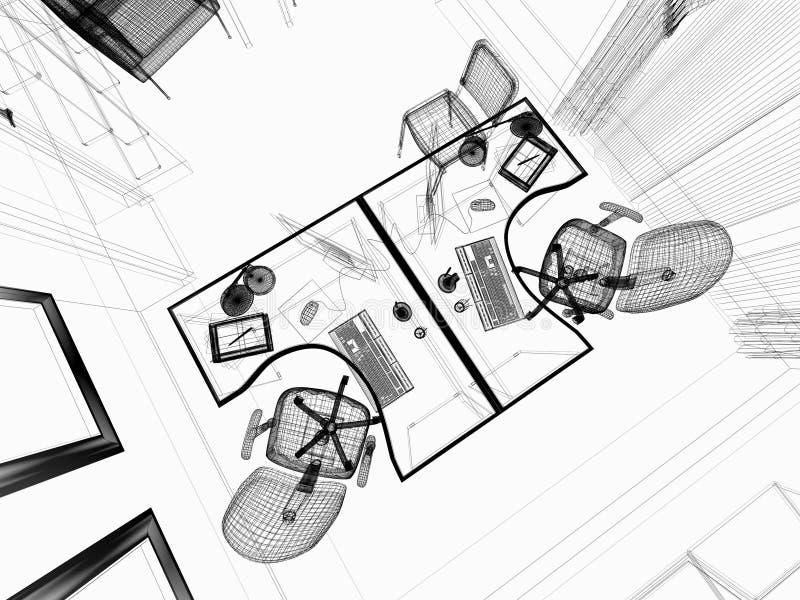 Interior moderno do escritório ilustração stock