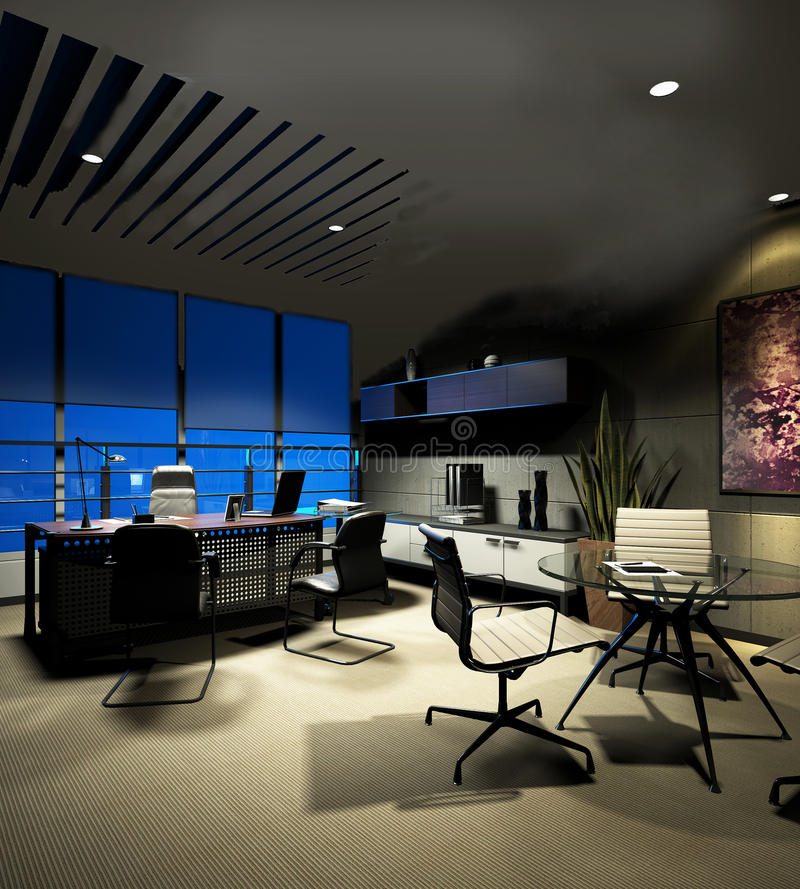 Interior moderno do escritório ilustração royalty free
