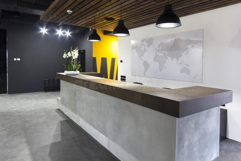 Interior moderno do escritório - recepção fotos de stock royalty free