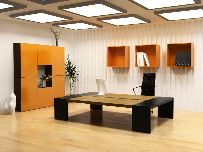 Interior moderno do gabinete ilustração stock
