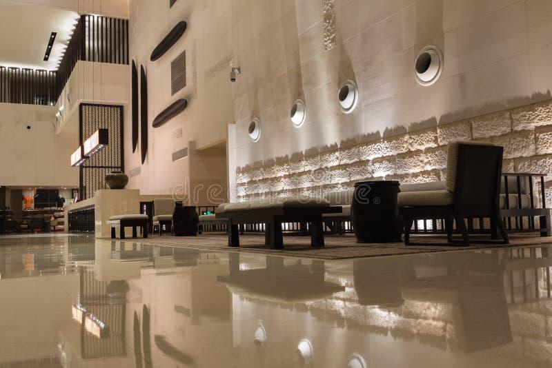 Interior moderno do hotel foto de stock royalty free