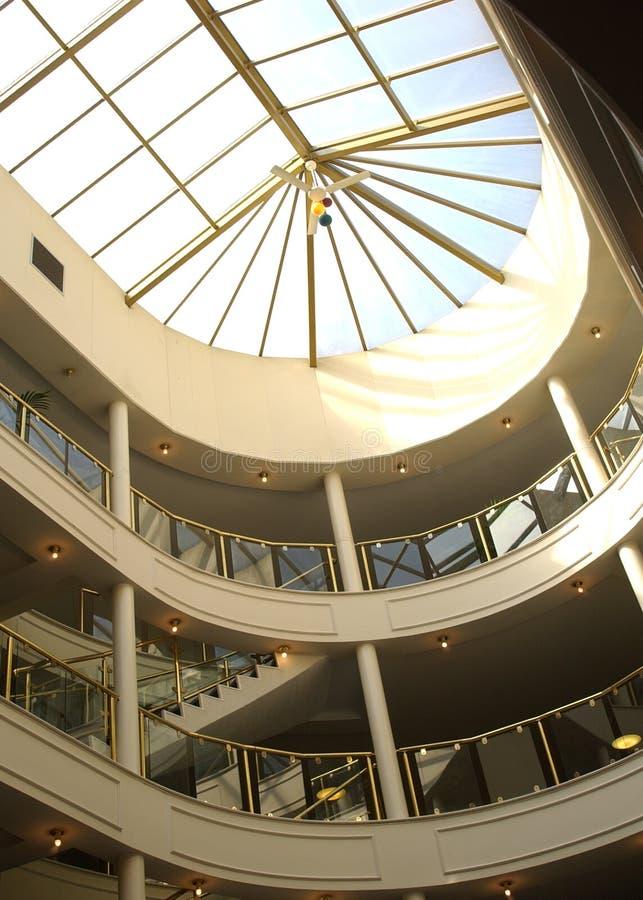 Interior moderno do hotel foto de stock