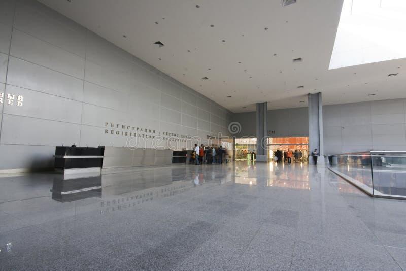 Interior moderno do negócio fotografia de stock