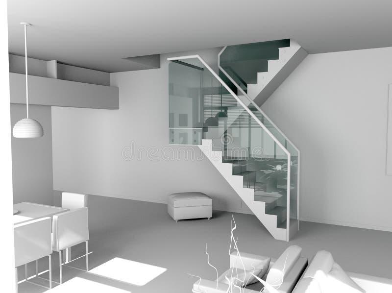 Interior moderno em branco imagem de stock