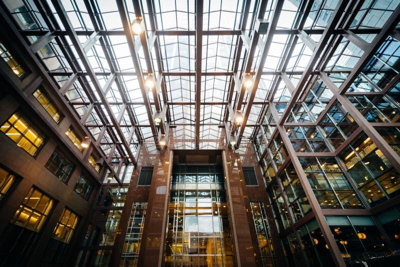 Interior moderno en el distrito financiero de Toronto céntrico, O fotos de archivo libres de regalías