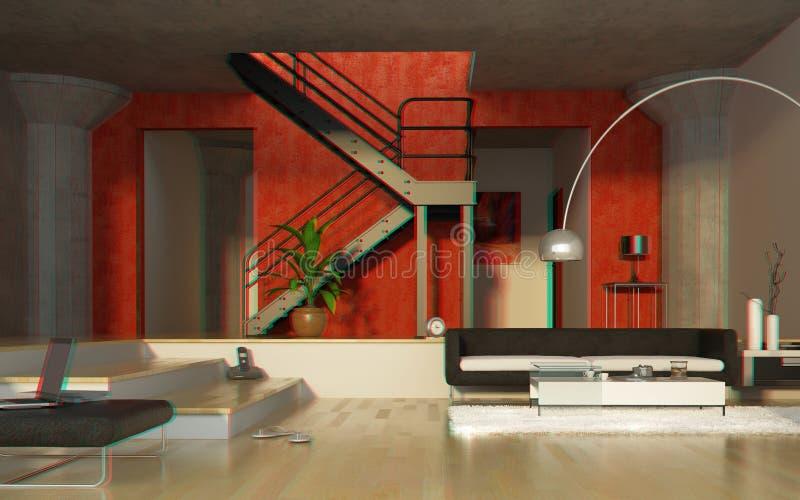 Interior moderno estereofónico ilustração royalty free
