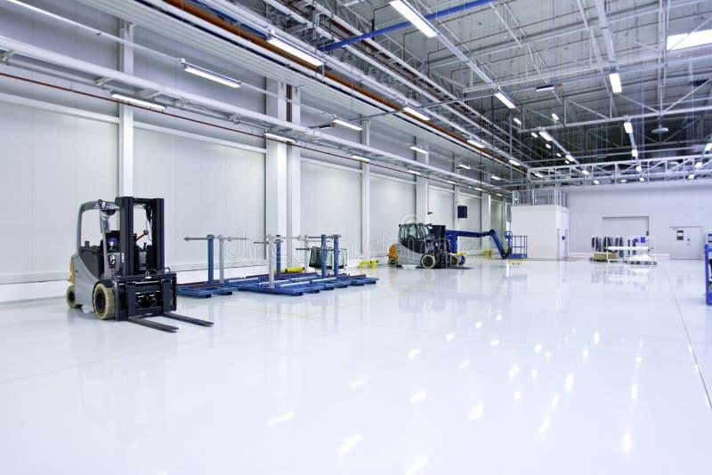 Interior moderno grande de Warehouse foto de archivo libre de regalías
