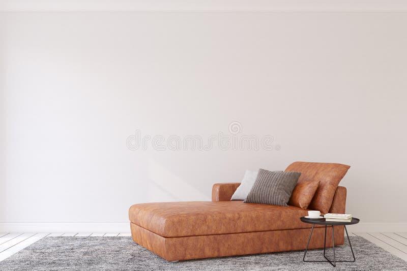Interior moderno representación 3d stock de ilustración