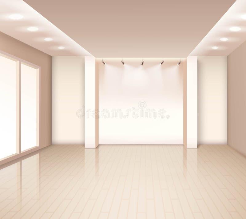 Interior moderno vazio da sala ilustração stock