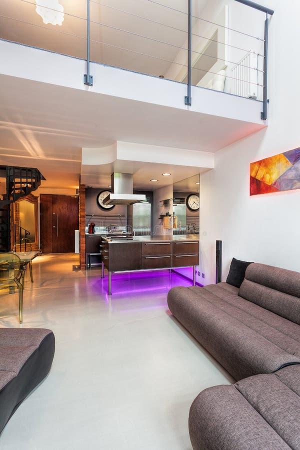 Interior moderno, vertical fotografia de stock
