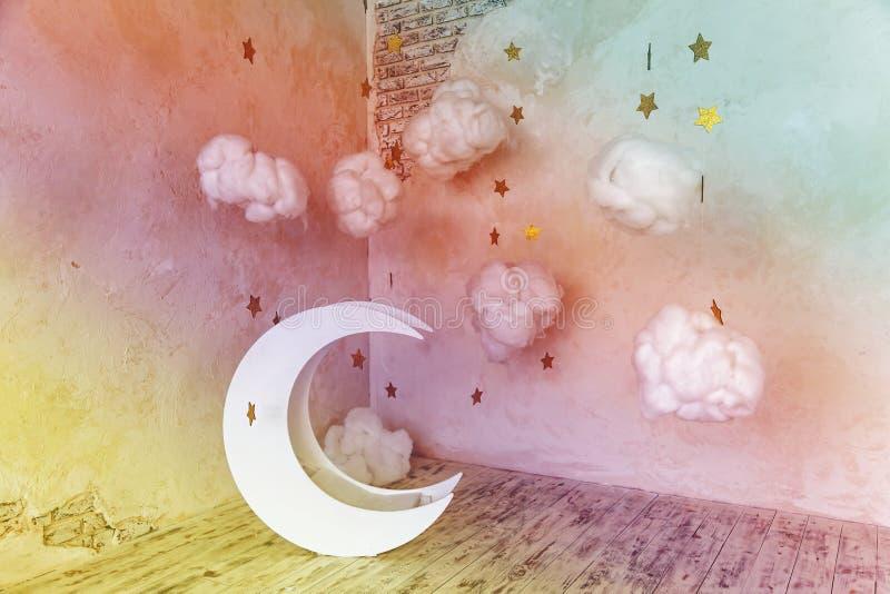 Interior moon and stars stock illustration