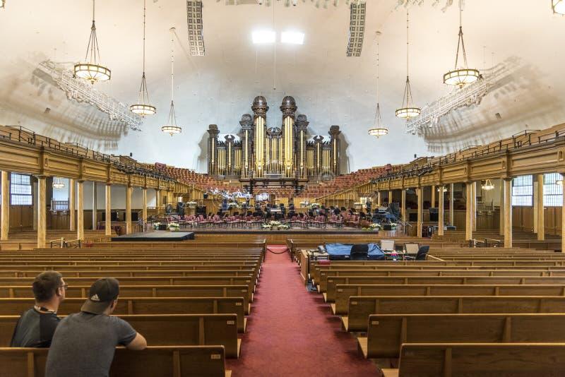 Interior Mormon Tabernacle Temple Salt Lake City royalty free stock photos