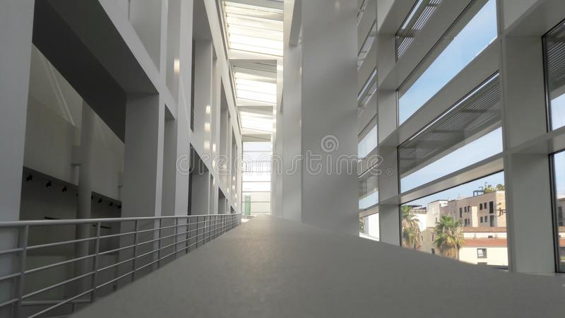 Interior of the Museum of Contemporary Art MACBA in Barcelona, Spain, September 2016. Interior of the Museum of Contemporary Art MACBA in Barcelona, Spain on royalty free stock photography