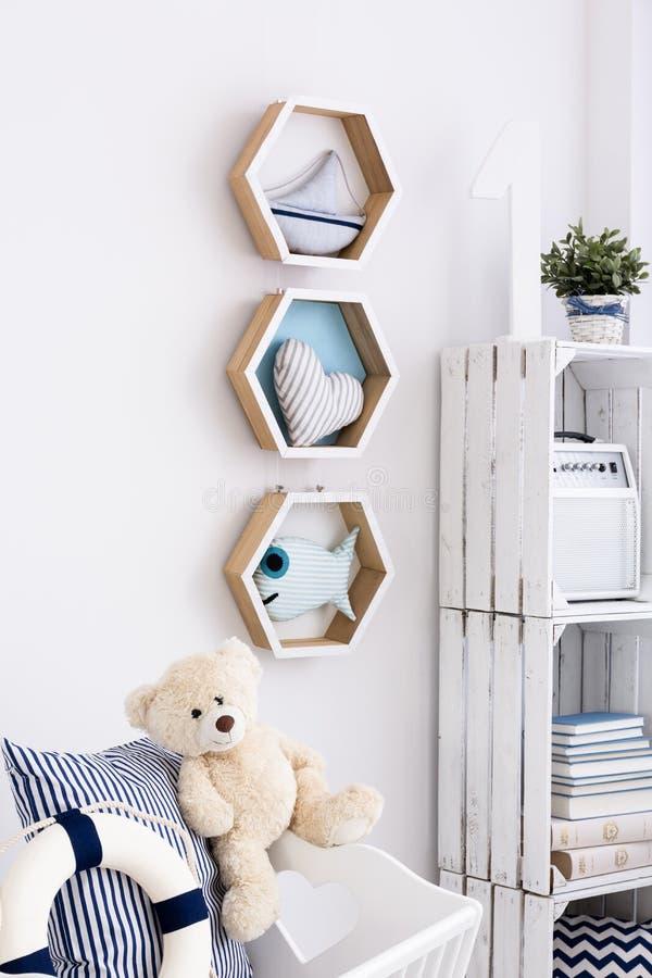 Interior náutico para a criança pequena imagens de stock royalty free