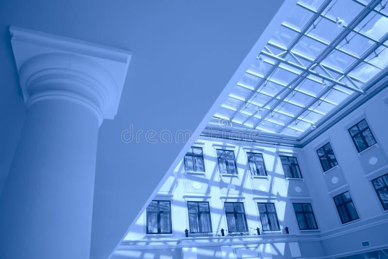 Interior na cor azul foto de stock royalty free