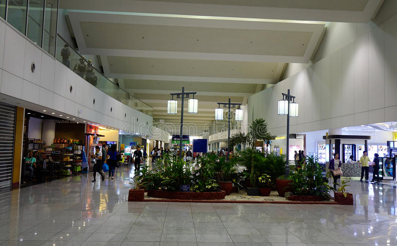 Interior of NAIA Airport in Manila, Philippines stock photography