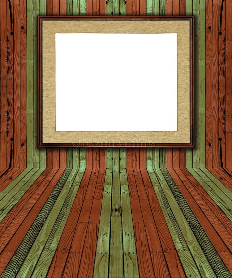 Interior natural creativo da prancha do pinho ilustração stock