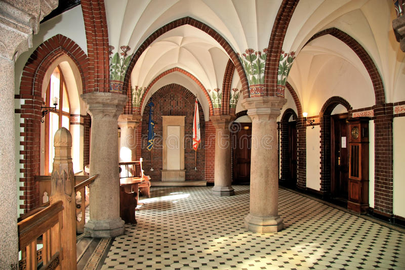Interior neogótico. foto de archivo