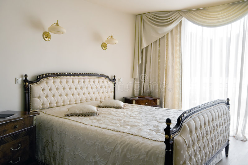 Interior of a new bedroom royalty free stock images