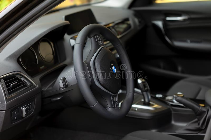 The Interior Of The New Bmw 118i Of The 1 Series Editorial
