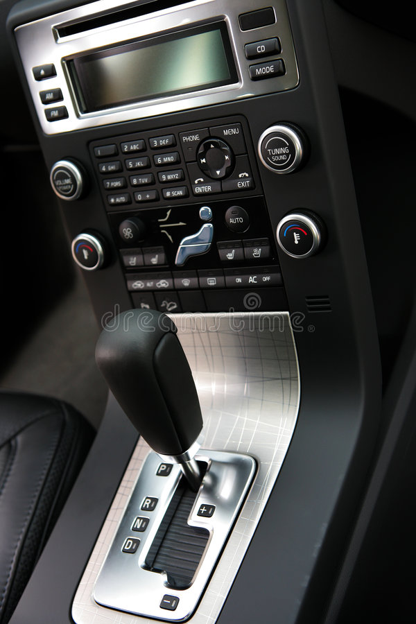 Interior of the new car stock image