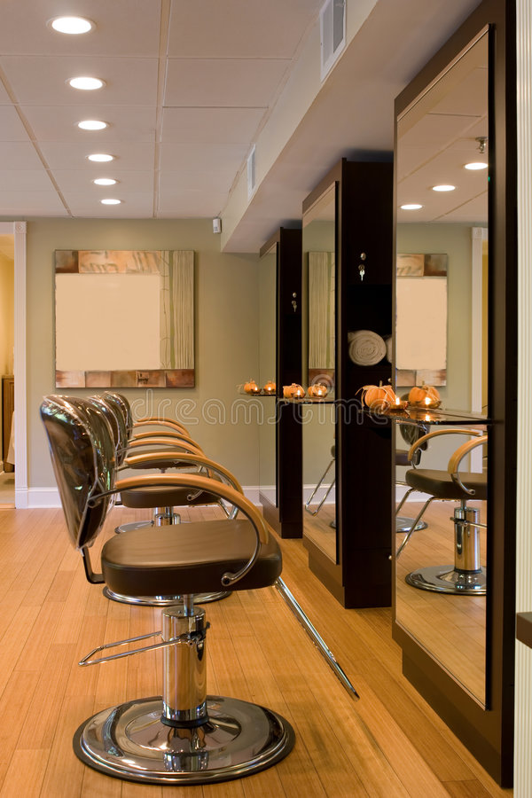 Download Interior-New Hair Salon Royalty Free Stock Photo - Image: 7051155