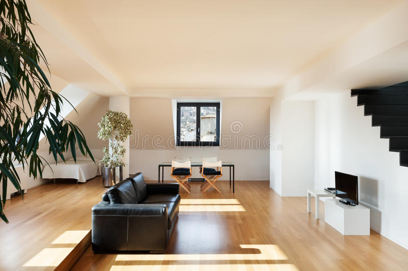 Download Interior, new loft stock photo. Image of wide, furniture - 31410768