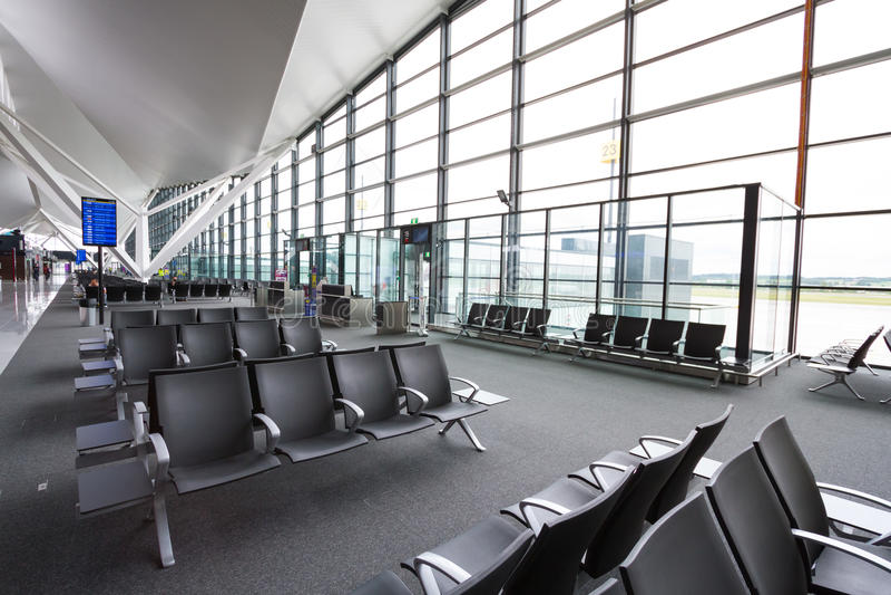 Interior Of New Modern Terminal At Lech Walesa Air Editorial Photography