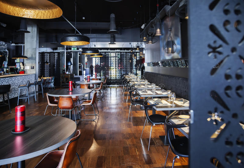 Download Interior of new restaurant stock image. Image of fashion - 39356945