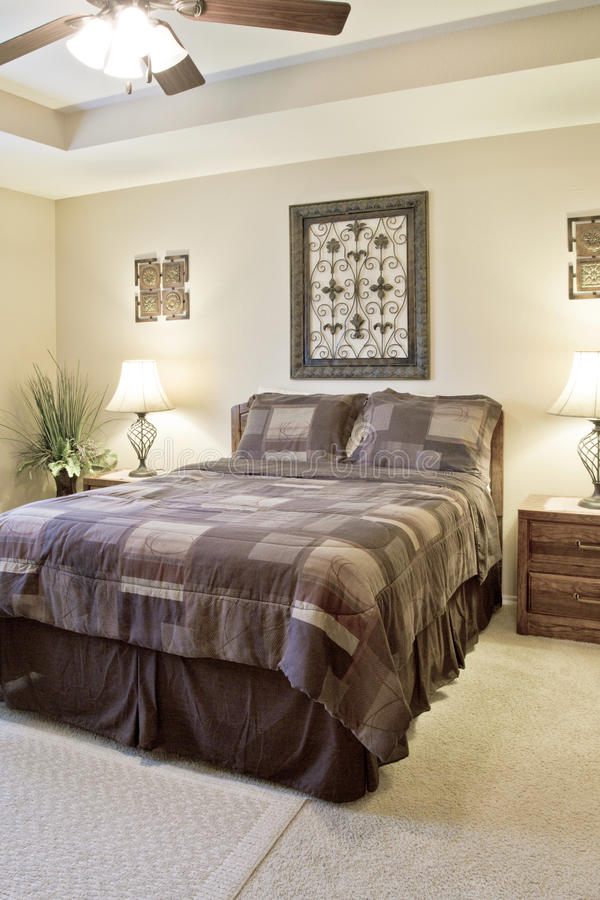 Interior of a nice bedroom stock photo