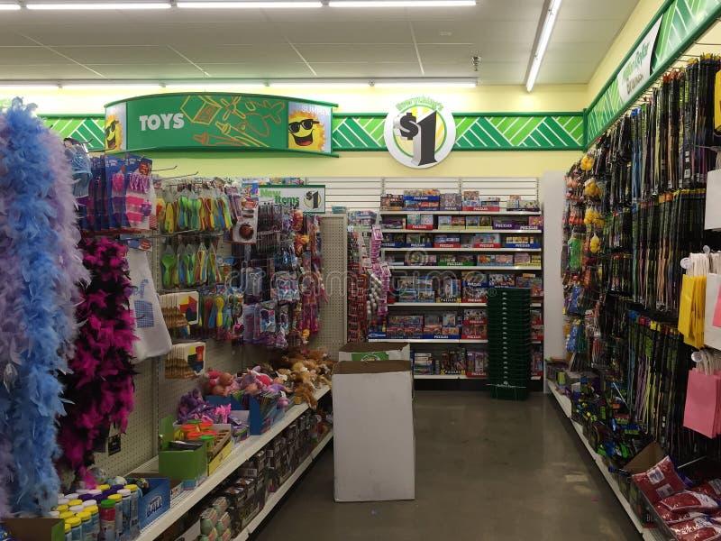 Interior of nice store Dollar tree stock photos