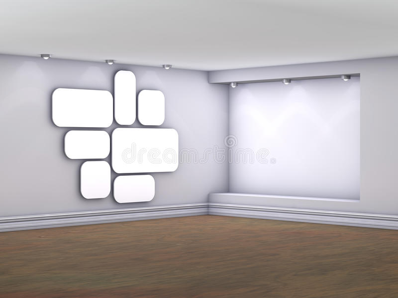 Download Interior With Niche, Spotlights And Pictures Stock Photos - Image: 25758753
