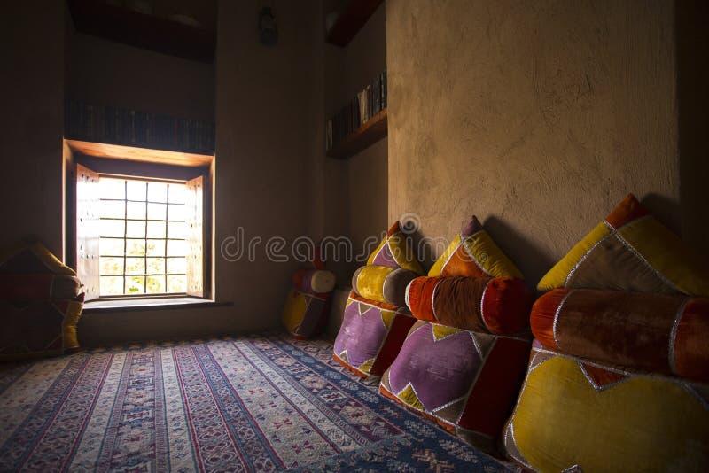 Interior Nizwa castle royalty free stock image