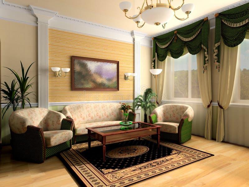 Interior no estilo clássico imagem de stock royalty free