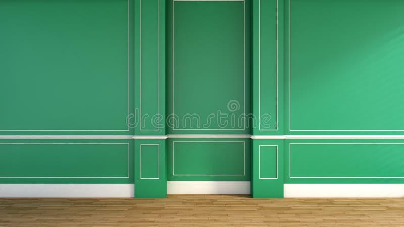 Interior no estilo clássico Verde ilustração stock