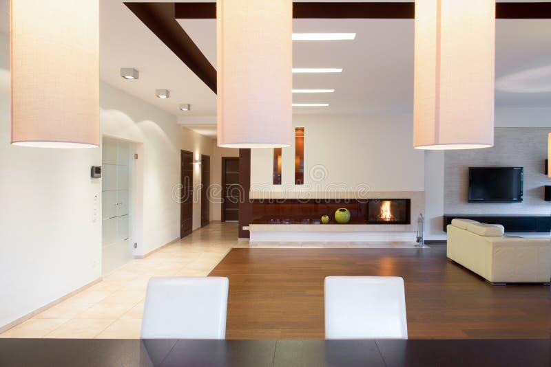 Interior no projeto moderno fotografia de stock