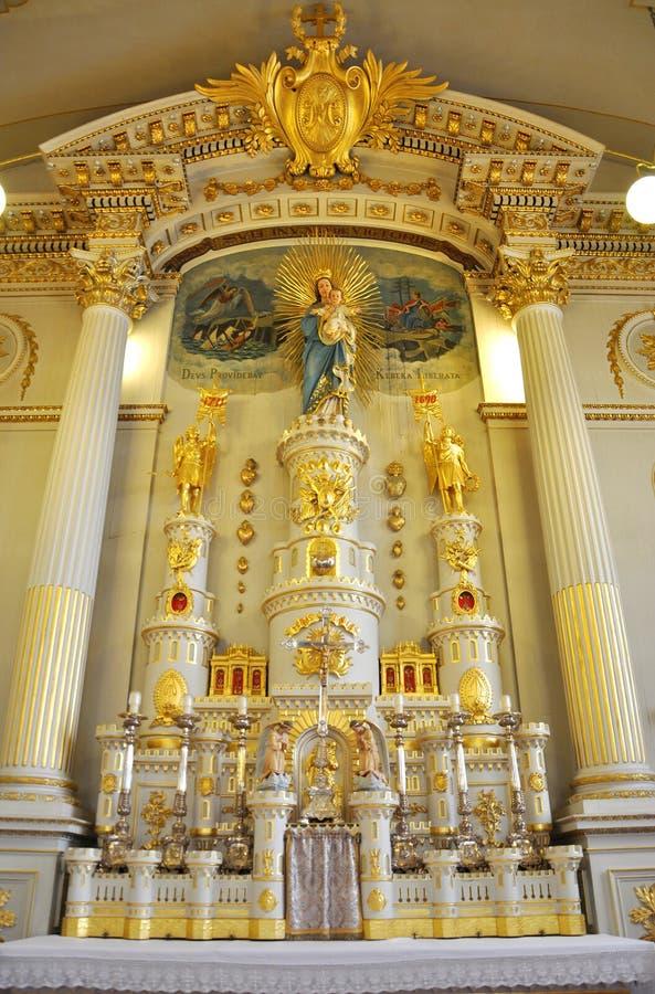 Notre-Dame-des-Victoires, Quebec City royalty free stock photos