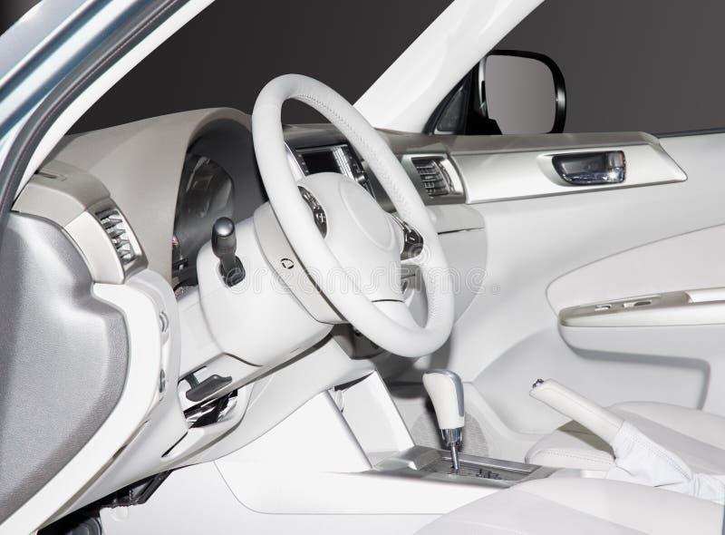 Interior novo do carro imagens de stock royalty free