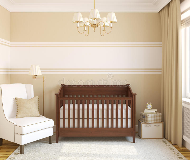 Interior of nursery. vector illustration