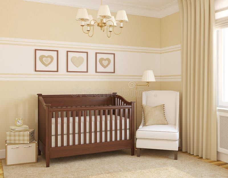 Download Interior of nursery. stock illustration. Illustration of armchair - 22553849