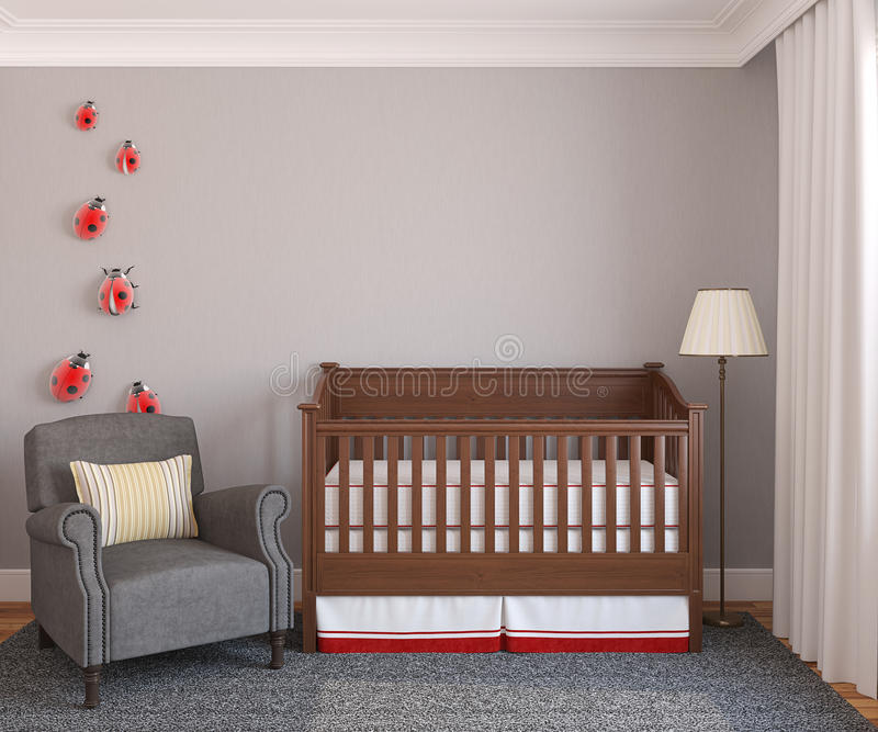 Interior of nursery. stock illustration