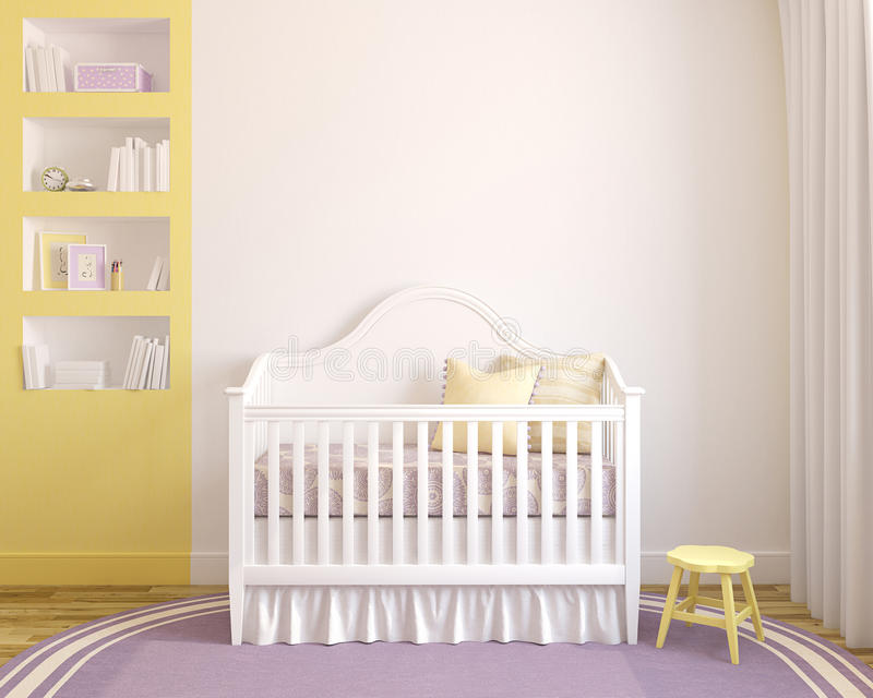 Interior of nursery. royalty free illustration