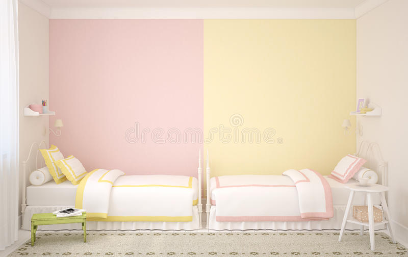 Download Interior of nursery. stock illustration. Image of double - 26291178