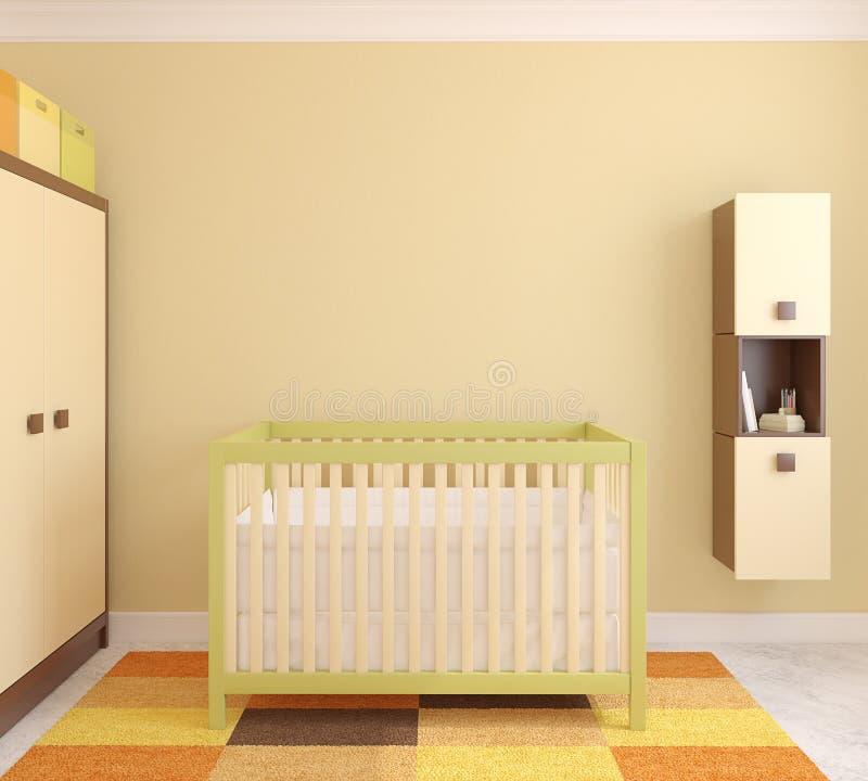 Download Interior of nursery. stock illustration. Illustration of baby - 26648221